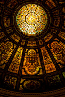 Amber, Chicago Cultural Center, Dome, Portal, Stained Glass
