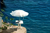 Mediterranean, Nice, France, Umbrella, White Umbrella,Travel, The Riviera, The South of France