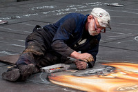 Paris, France, Pompidou Centre, Travel, Street Artist, People, Chalk Art, Artist
