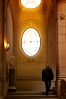 France, Paris, People, The Louvre, Travel, Watchman, Window
